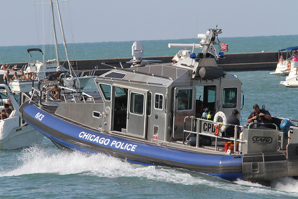 Chicago Police Marine Units Lakefront at Chicago Avenue July 28, 2012