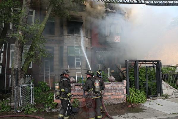 2-11 Alarm fire 4200 S. Champlain June 29, 2014