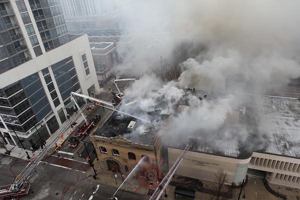 "3-11 Alarm Fire 1401 S. Michigan ""Firehouse Restaurant"" December 10, 2014"
