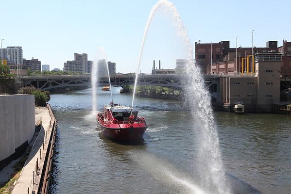 Engine 2 In-Line Pumping Drill Old Post Offcie Van Buren & Wacker June